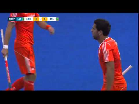 NED 1-0 IRL Jeroen Hertzberger deflects in at the far post #UEHC2015 #EHC2015