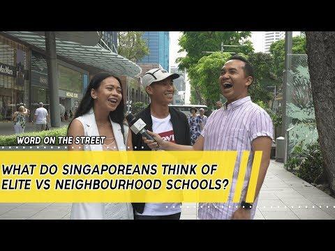 What Do Singaporeans Think Of Elite Vs Neighbourhood Schools?   Word On The Street