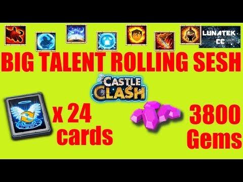 Decent Talent Roll/rolling Sesh (plant For Prizes, Legend Card)  Castle Clash CC