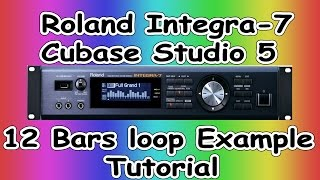 Example 12 Bars Loop How to make own Beats( Roland Integra-7 )