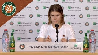 Eugenie Bouchard - Press Conference after Round 1 2017 | Roland-Garros
