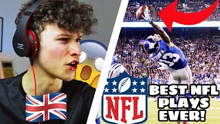 BRITISH KID watches NFL GREATEST PLAYS OF ALL TIME!!