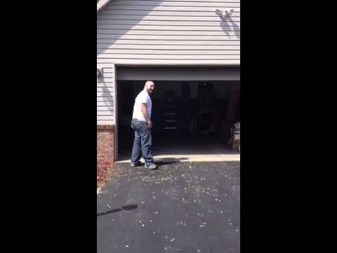 Garage Door Sensor Funny Fail Youtube