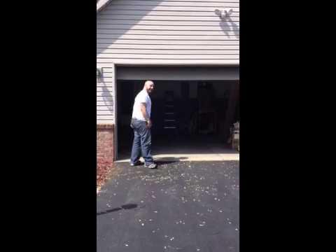Garage Door Sensor Funny Fail Youtube