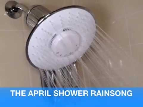 bluetooth operated hard water shower head filter with rainsong