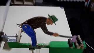 El  Leñador. Aizkolaria. Wood Chopping Man - Whirligig