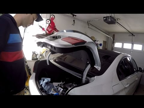 BimmerTech Power Trunk Kit installation in a BMW F30