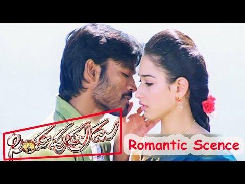 Dhanush Tamanna Romantic Scene - Simha Putrudu Movie