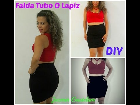 Como hacer Una Falda Tubo o Lapiz Facilmente DIY- How To Make A Pencil Skirt