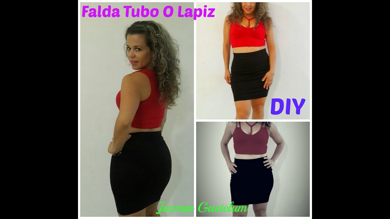 Como hacer Una Falda Tubo o Lapiz Facilmente DIY- How To Make A ...