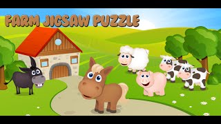 Fun Farm Jigsaw Puzzle for Toddlers - Fantastic kids game