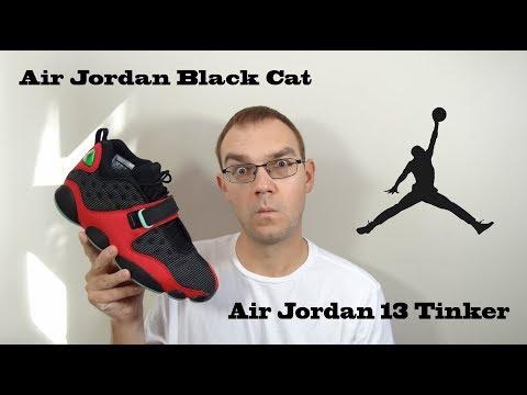 first rate fb476 e3e54 Air Jordan 13 Tinker/Jordan Black Cat - YouTube