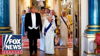 Gambar cover Full Video: Trump, Queen Elizabeth II exchange toasts at UK state dinner