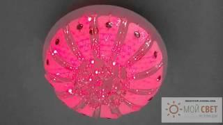 Люстра светодиодная, с пультом на четыре лампы(Купите этот светильник в нашем интернет магазине http://msvet.com.ua/ ! Вы получите - Бесплатную доставку, Гарантию..., 2015-11-12T10:00:04.000Z)