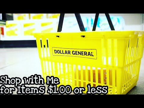DOLLAR GENERAL SHOP WITH ME FOR $1 ITEMS 2019