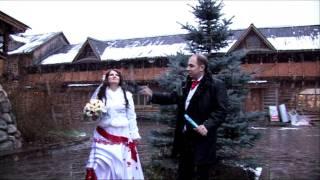 красивая свадьба зимой под снегом
