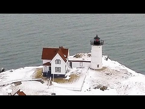 Snowy Winter New England Hexacopter Flying - New Hampshire and Maine - Blizzard(s) of 2015