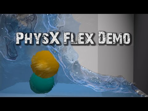 PHYSX FLEX DEMO - Incredible Physics Simulation