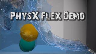 PHYSX FLEX DEMO - Incredible Physics Simulation