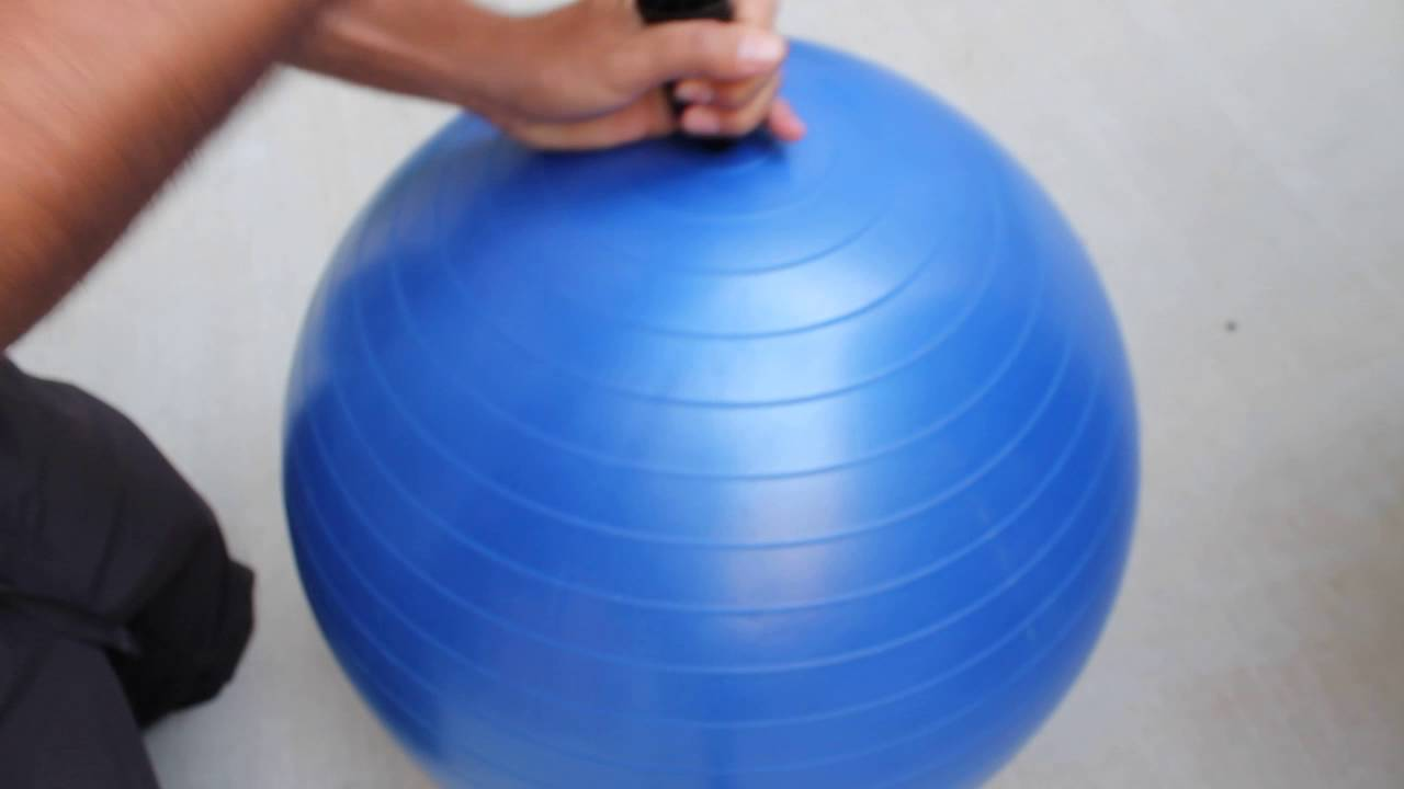 How to properly inflate your exercise ball youtube.