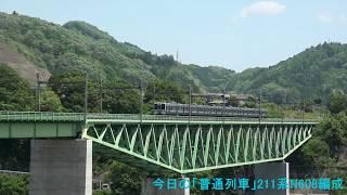 2018年5月5日(土)今日の「普通列車」533M 211系(N608編成) 小淵沢行【こいのぼり】