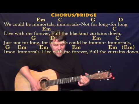 Immortals (Fall Out Boy) Strum Guitar Cover Lesson in Em with Chords/Lyrics