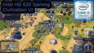 intel hd 620 gaming civilization vi i3 7100u i5 7200u i7 7500u kaby lake
