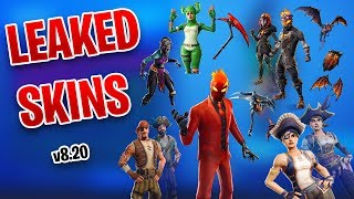 *NEW* LEAKED Skins - LAVA LEGENDS PACK, WILD CARD (EVIL SUIT), NIGHTWITCH & MORE - FORTNITE v8.20