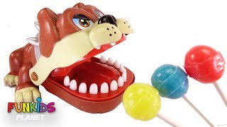 Learn Colors with Paw Patrol Lollipops Dentists and Bulldog & Alligator Toy