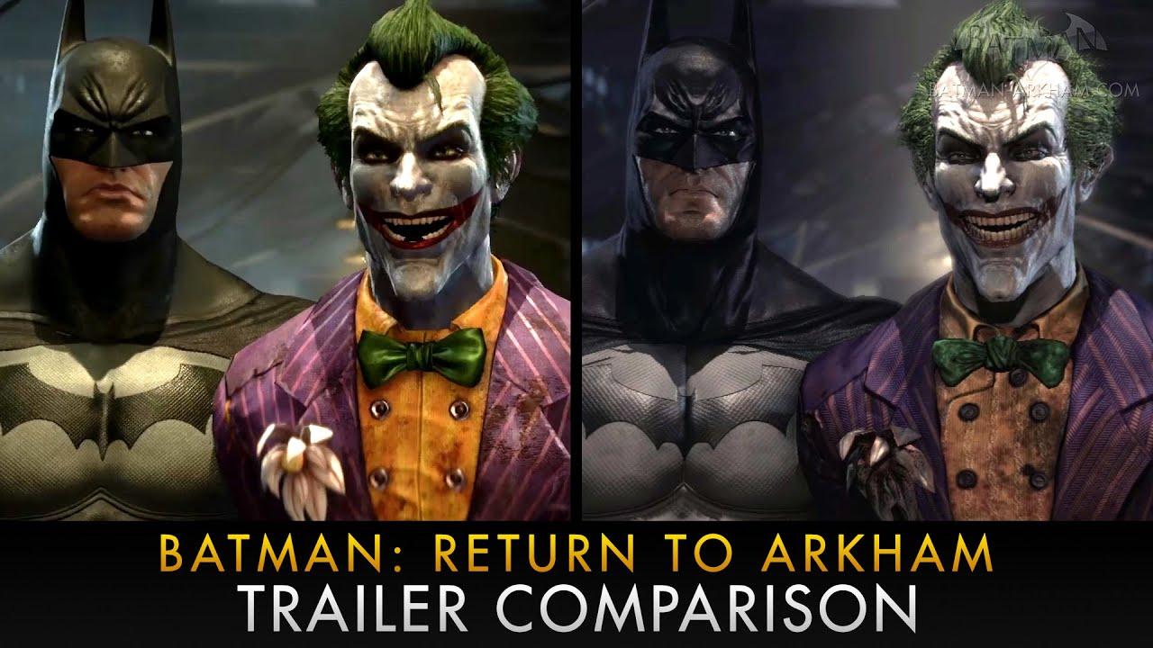 Batman: Return to Arkham Graphics Comparison - YouTube