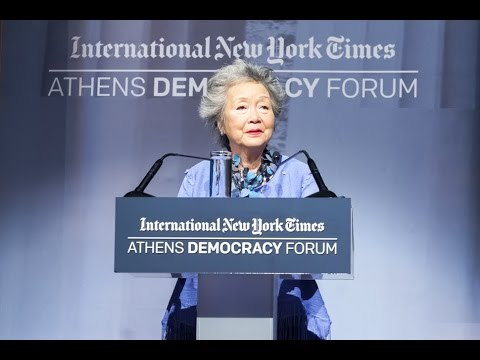Athens Democracy Forum 2015 - The Rt. Hon. Adrienne Clarkson, Former Governor General of Canada