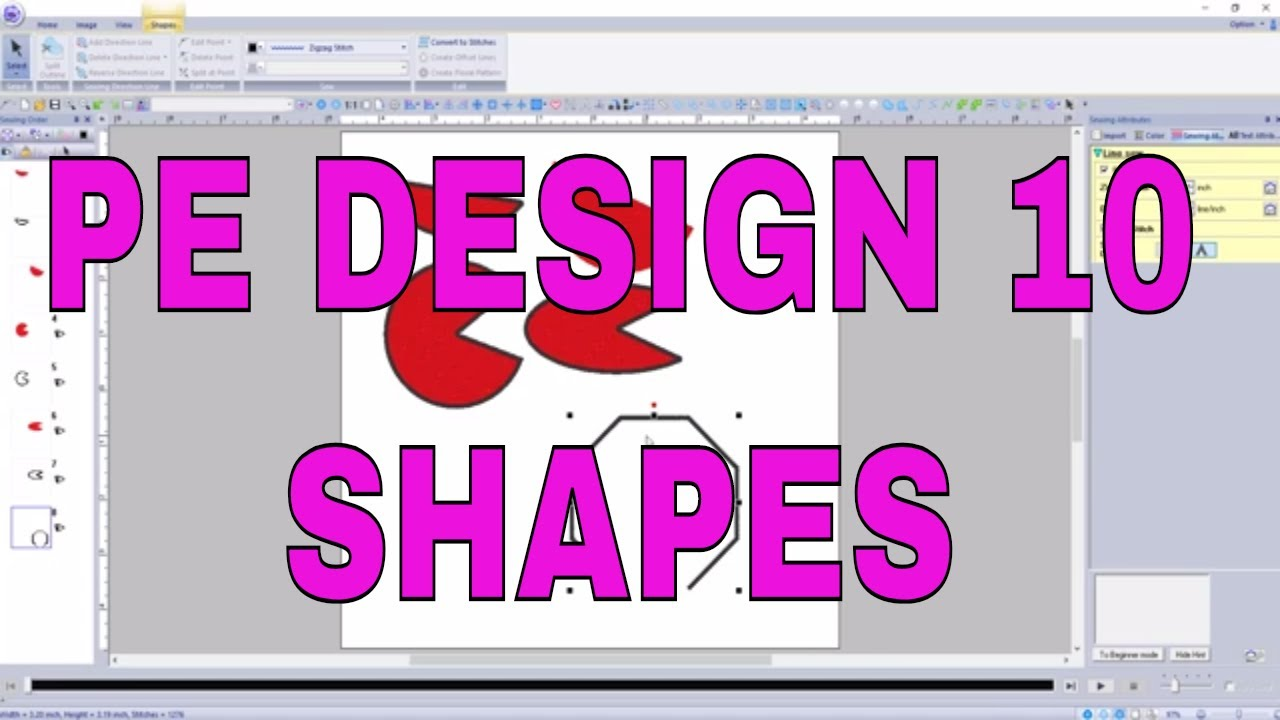 Pe Design 10 Make Fast And Easy Perfect Shapes With The Shape Tool