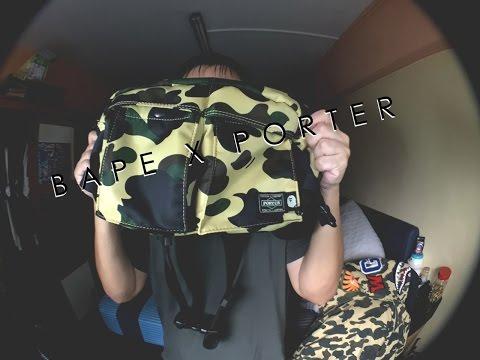 2dbab672 Unbox: Bape X Porter 1st Camo Waist Bag - YouTube