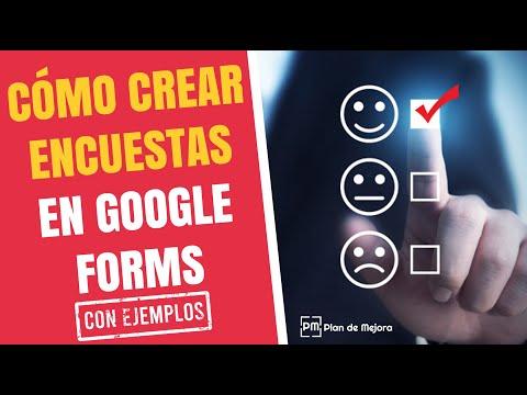 Ejemplo de cómo crear una encuesta con Google Forms