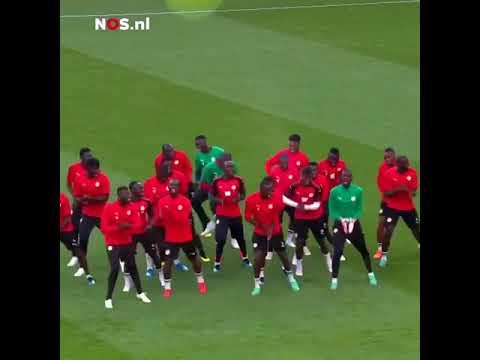 Senegal team funny dance in training - Senegal vs Japan World Cup 2018