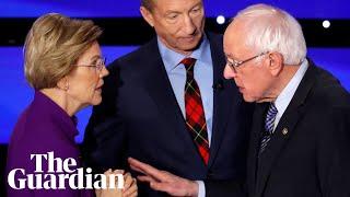 Elizabeth Warren appears to snub handshake with Bernie Sanders