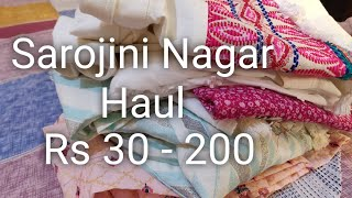 Sarojini Nagar Rs 30 to 200 Haul | cheapest market haul | summer collection sarojini nagar haul