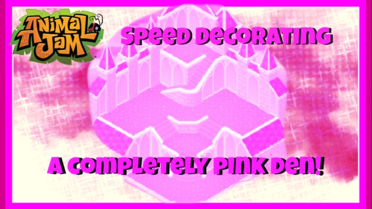 Download Animal Jam: Speed Decorating A Completely Pink Den! Only Pink Items! {Uniquely Unicolor Series}