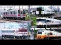 酒田駅 羽越本線 朝のラッシュアワー!Local Trains in Japan 2017