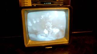 Vintage Philips black and white tv set from 1959