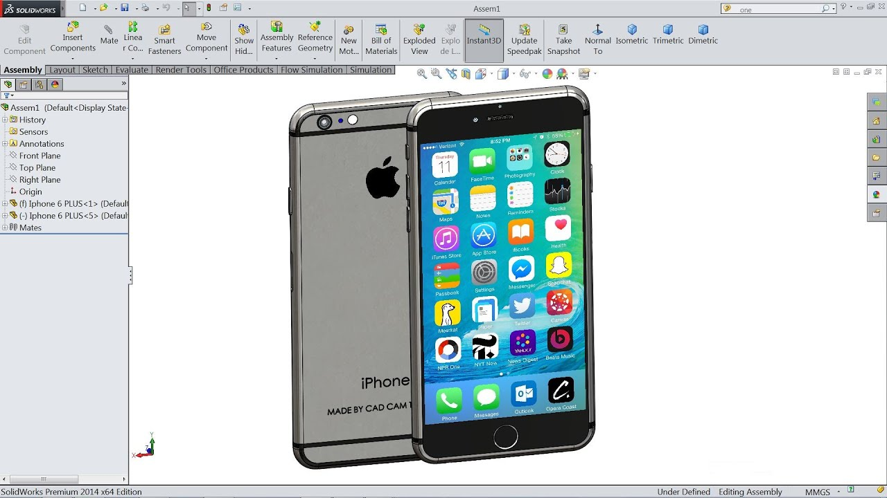 Solidworks tutorial iPhone 6 Plus