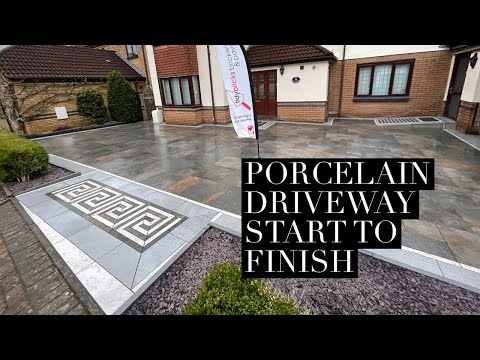porcelain driveway start to finish