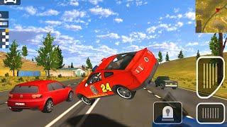 Police Car Driver Gameplay | Красная полицейская машина УСТРОИЛ БЕЗПОРЯДКИ |  Цветная машина