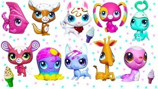 Littlest Pet Shop Sundae Sparkle Ice Cream Sprinkle Glitter Pets Toy Review Opening