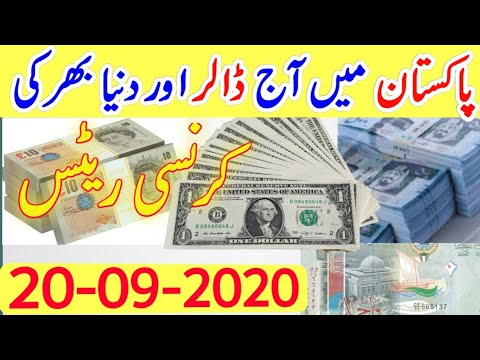 Today US Dollar Rate In Pakistan Latest News PKR To US Dollar Gold Price In Pakistan 20September2020
