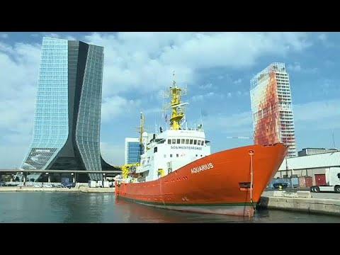 Navio Aquarius na mira da justiça italiana
