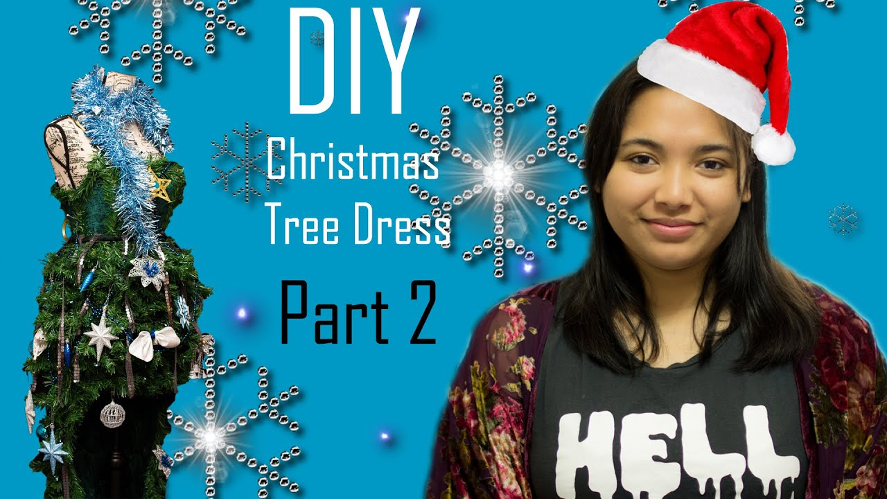 Christmas tree dress part 2 sewing the dress and making a tree dress
