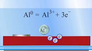 Электрохимическая коррозия (алюминий — медь)