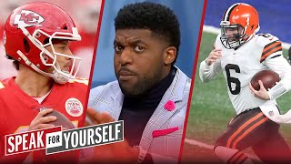 Mahomes has more to lose so is under more pressure than Baker - Acho | NFL | SPEAK FOR YOURSELF