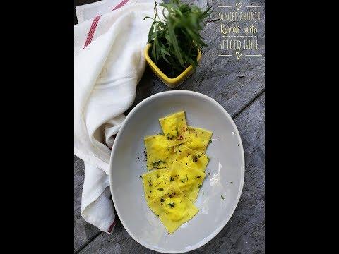 Lemon Goat cheese ravioli